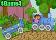 لعبة قطار دورا لنقل الحيوانات