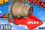 لعبة الخنزير الطائر على الصاروخ