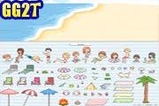 لعبة ديكور الشاطئ