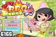 لعبة مطعم طبخ المشويات لحم ودجاج وسمك