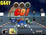 لعبة سباق مركبة سبونج بوب الفضائية