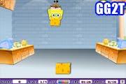 لعبة رمي مكعبات الجبنة مع سبونج بوب