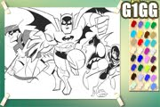 لعبة تلوين باتمان وروبين