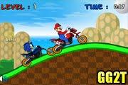 لعبة سباق ماريو و سونيك