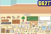 لعبة ترتيب ديكور صف المدرسة