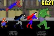 لعبة سباق ماريو باتمان سبايدرمان سوبرمان الرجل الاخضر