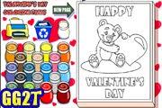 لعبة تلوين هدايا عيد الحب